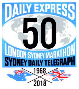 London to Sydney Marathon 50 logo