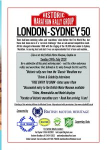 London to Sydney 50 flyer back
