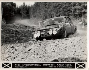 J6749 formerly UKV701H on the Scottish Rally 1972. Picture coutesy of Brian Englefield